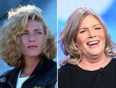 Actors of the Then and now Kelly McGillis Kelly Mcgillis, Anthony Michael Hall, Michael Keaton, Cute Hairstyles For Medium Hair, Medium Hair Styles, White Hair Highlights, Celebrities Then And Now, Young Celebrities, Celebs