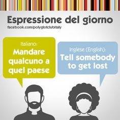 English / Italian idiom: Tell somebody to get lost