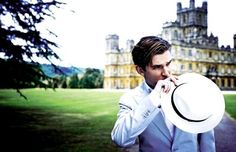 downton abbey- he is so cute!  specially if thts his house behind him ;p
