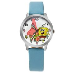 spongebob shipping color kids fashion wristwatches women watches quartz pin cartoon wholesale beautiful for girls cute children free watch