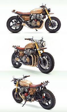 Honda CB 750 Four.  Customizada ¨mezzo¨ Scrambler, ¨mezzo¨ Rat Bike.