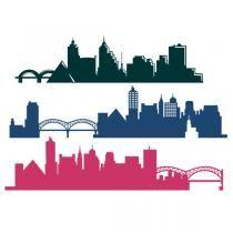 Memphis City Skyline TN Tennessee SVG Cuttable Design Memphis Skyline, Memphis Art, Memphis Tennessee, Skyline Silhouette, Silhouette Design, Silhouette Cameo, Superhero Boys Room, Skyline Tattoo, Skyline Painting