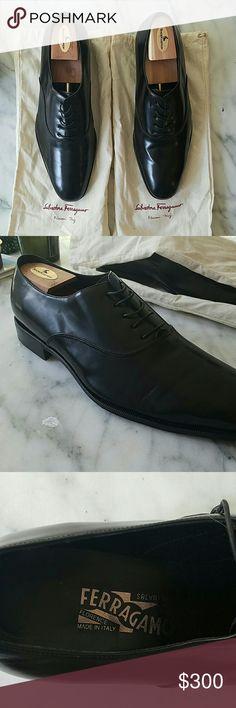 Men's Salvatore Ferragamo Dress Shoes Men's Salvatore Ferragamo Dress Shoes, black, width 2E, worn once Ferragamo Shoes Oxfords & Derbys
