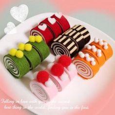 Cute Crafts, Felt Crafts, Crafts To Make, Felt Diy, Handmade Felt, Felt Food Patterns, Felt Cake, Felt Play Food, Fake Food