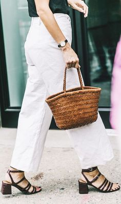 Shop the basket bag trend that fashion girls have fallen completely in love with at a variety of price points.