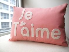 Such an easy DIY. Sew felt letters onto a pillow and voila. Cute, too.