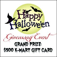 $500 Kmart Gift Card Halloween Giveaway Event, Open to 18+, US only, Ends 10/28