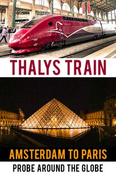Travel to Paris by high-speed train. I list 12 things that surprised me about the Thalys train from Amsterdam to Paris to help you prepare for the journey! Paris Travel Guide, Travel Guides, Travel Advice, Thalys Train, European Travel Tips, Backpacking Europe, France Travel, Travel Europe, Europe Destinations