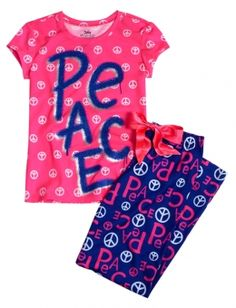 Peace 2pc Pajama Set