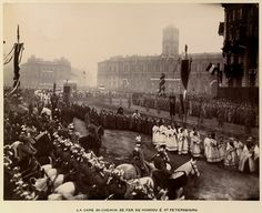 Funeral procession of Alexander III, Emperor of Russia Bolshevik Revolution, Familia Romanov, The Royal Collection, Cleric, Imperial Russia, City Break, Emperor, Funeral, Dolores Park