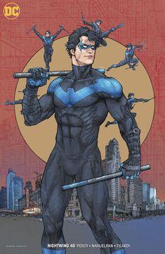 Nightwing Comic Issue 48 Limited Variant Modern Age First Print DC 2018 Percy Batman Kunst, Batman Art, Batman Robin, Robin Superhero, Comic Book Heroes, Comic Books Art, Comic Art, Dc Heroes, Arte Dc Comics
