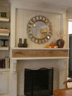 White Brick Fireplace Design, Pictures, Remodel, Decor and Ideas - page 16