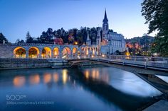 Sanctuary of Our Lady of Lourdes at Blue Hour by pramio. @go4fotos