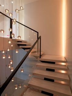 Penthouse at the Ritz - modern - staircase - new york - West Chin Architects & Interior Designers Staircase Interior Design, Home Stairs Design, Railing Design, House Design, Modern Hallway, Modern Stairs, Stairway Lighting, House Stairs, Hallway Decorating