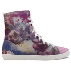 Lilac fantasy. Inspired by the Magic Island of Gotland, designed by Åsa Stenström, magicisland.se idxshoes.com - Hidden Wedge Hi-Tops