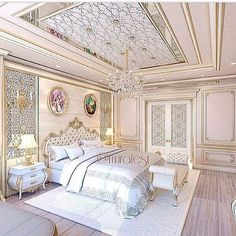 See this Instagram photo by @muratesr • 1,013 likes My Home Design, Home Interior Design, House Design, Suites, Home Bedroom, Royal Bedroom, Bedroom Decor, Luxurious Bedrooms, Dream Rooms