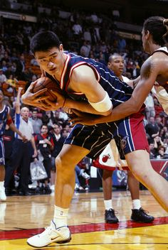 Yao Ming.    For all the latest Houston Rockets news and updates, visit www.rockets.com.