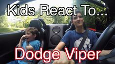 News Videos & more -  Car and Truck videos - Kids React To Dodge Viper ~ Funny Supercar Reaction Rides!! #Cars &  #Trucks #Music #Videos #News
