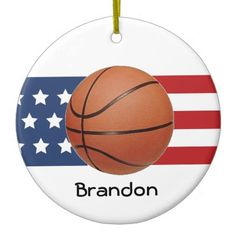 Basketball Design Ornament