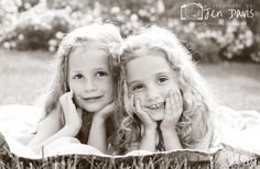 Sisters, poses for girls, Grounds for Sculpture, Hamilton, NJ, Beautiful Black and White photos