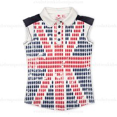 Fore N Birdie Union Jack Sleeveless Polo w/Golf Bags: Designer Kids Clothes | Shop our Boutique for Cool Children's Clothing