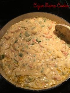 OOk this is one of my most favorite, tried and true, best recipes. This is the one I trot out when I want to impress and have my friends begging for more. It's creamy, it is just spicy … Crawfish Fettucine…like seriously the best stuff ever craft Crawfish Fettucine Recipe, Crawfish Pasta, Crawfish Recipes, Cajun Recipes, Seafood Recipes, Pasta Recipes, Cooking Recipes, Crawfish Monica, Haitian Recipes