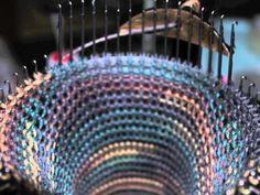 CSM Cat Bordhi's Sweet Tomato Heel done on a Circular Sock Machine Circular Knitting Machine, Knitting Machine Patterns, Loom Knitting, Knitting Socks, Addi Express, Knitted Cat, Crochet Socks, Making Machine, Macrame