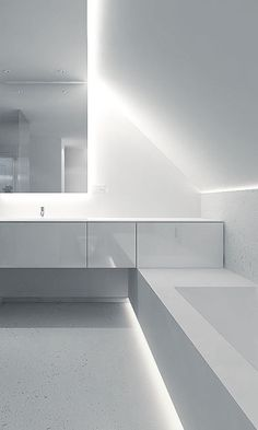 White Bathroom by Filip Deslee