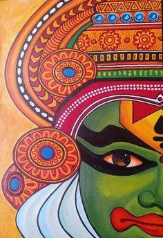 Kerala Mural Painting, Indian Art Paintings, Madhubani Art, Madhubani Painting, Mandala Art Lesson, Whatsapp Wallpaper, Art Drawings Sketches Simple, Drawing Ideas, Buddha Art