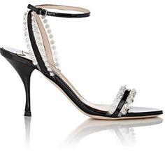 7327962dc86 Miu Miu Embellished Ankle-Strap Sandals at Barneys New York
