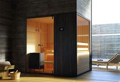 Loyly Sauna: Hot Room with a View - Garden & Patio Bad Inspiration, Bathroom Inspiration, Modern Saunas, Modern Garden Furniture, Sauna Design, Finnish Sauna, Sauna Room, Sauna House, Beige Pillows
