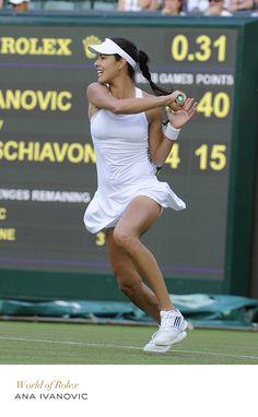 Ana Ivanovic #Wimbledon #Tennis #RolexOfficial