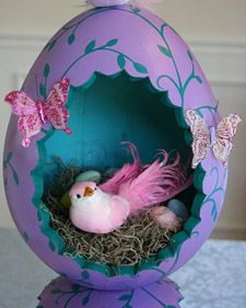 2010 Martha Stewart Easter creation contest winner.  This is so pretty!  I love butterflies & birds!  Purple is one of my favorite colors too!