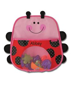 Look at this Ladybug Personalized Bath Toy Caddy on #zulily today!