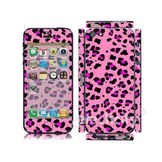 Animal Pattern Skin Cover Screen Protector for Apple iPhone 5 (Style 3) [CCSK-PHVPL19] - $12.00 : Pink Leopard