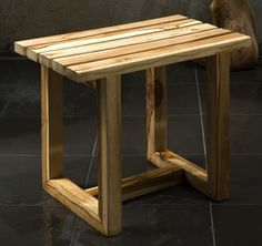 Teak Spa or Shower Stool