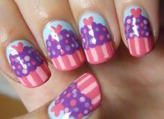 18 Cute Cupcake Nails