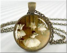 Ballerina Art Pendant Edgar Degas Pendant by MGArtisanPendants