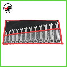 12pc the key ratchet spanners combination wrenches set of auto repair hand tool for cars kit chave catraca herramientas de mano
