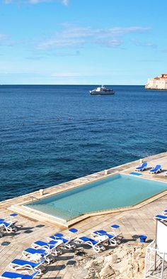 Lounge around the pool overlooking the Adriatic Sea. #Croatia