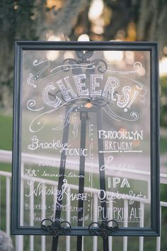 Love the use of this sign as a #drink #menu {Black & Hue Photography}