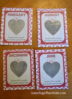 DIY your own scratch off valentines!