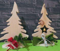Weihnachtsdeko aus Zirbenholz, kleine Tannenbäume, perfekt als Geschenk