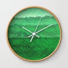 Moss Wall Clock by swavstudio