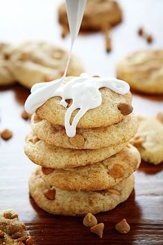 Peanut Butter Butterscotch Snickerdoodle drizzled in Marshmallow Fluff!