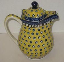 Polish Pottery Fancy Teapot CA984-859 Sunburst