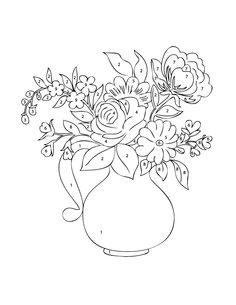 Flower Color by Number Coloring Pages