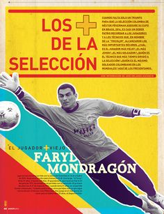 Crónica gráfica de la revista BOCAS-Colombia. edición 22. agosto 2013, que recopila algunos de los iconos más representativos de la historia de la selección colombiana de fútbol.