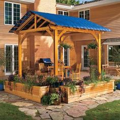 A pergola is a great way to add a little shade and a sense of privacy to your patio. But the open latticework doesn't provide complete shade or any protection from rain. If you're planning to build a pergola, or want more shade or rain protection than your current pergola provides, consider adding a fabric cover. Read more at community.familyhandyman.com