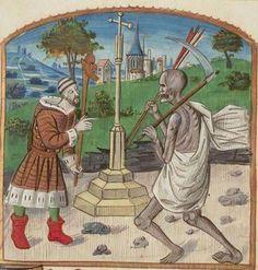 The Hague, KB, 71 G 61. Triboulet, Complainte contre la Mort. Central France; c. 1480